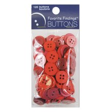 Blumenthal Lansing Favorite Findings Basic Buttons, Red