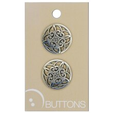 Blumenthal Lansing Silver Buttons, 2 Pack