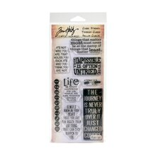 Tim Holtz Clear Stamp Set, Phrases