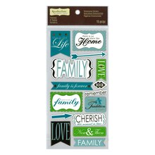 Family Chipboard Stickers by Recollections