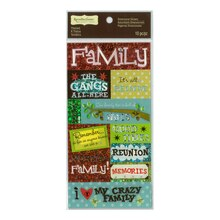 My Crazy Family Dimensional Stickers by Recollections