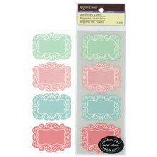 Pastel Chalkboard Labels by Recollections