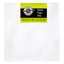 Solid Cotton Fabric by Loops & Threads, White