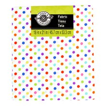 Cotton Fabric by Loops & Threads, Multi Small Dots