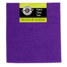Solid Cotton Fabric by Loops & Threads, Purple