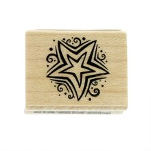 Small Star Wood Stamp by Recollections