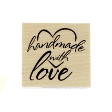 Handmade with Love Wood Stamp by Recollections