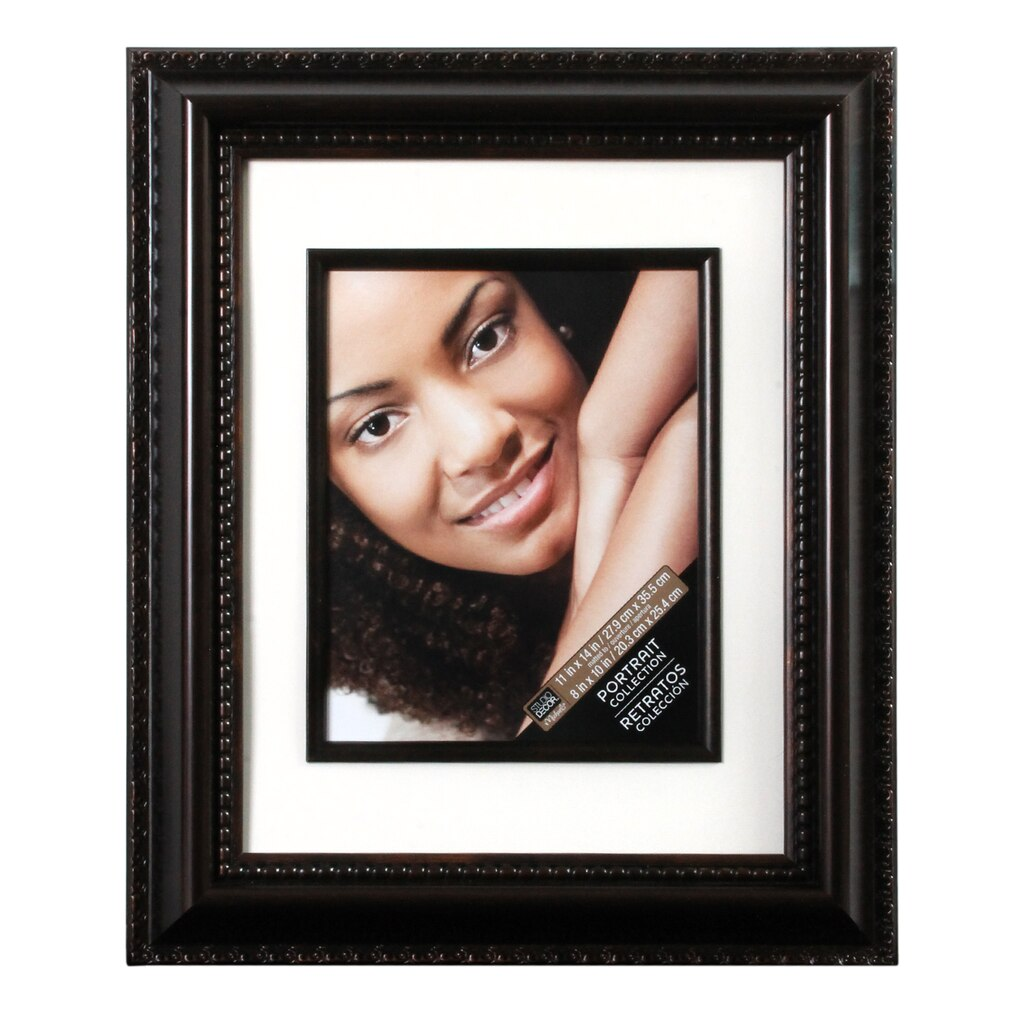 Bronze Beaded Frame 11 Quot X 14 Quot With 8 Quot X 10 Quot Mat Portrait