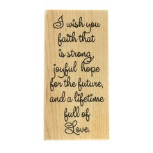 I Wish You Faith Wood Stamp by Recollections