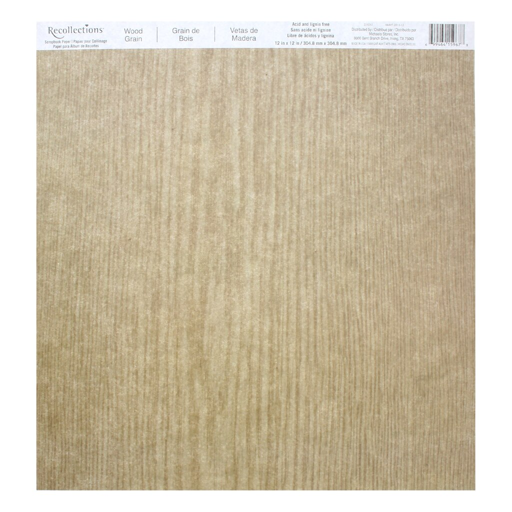 Wood Grain Scrapbook Paper By Recollections 174