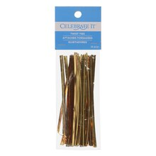 Gold Twist Ties by Celebrate It
