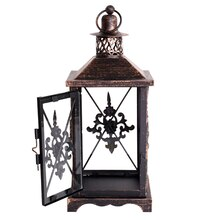 Medium Damask Metal Lantern by Ashland Open
