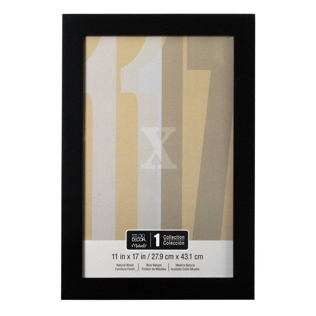 Solid Black Wall Frame By Studio Decor 11 X 17
