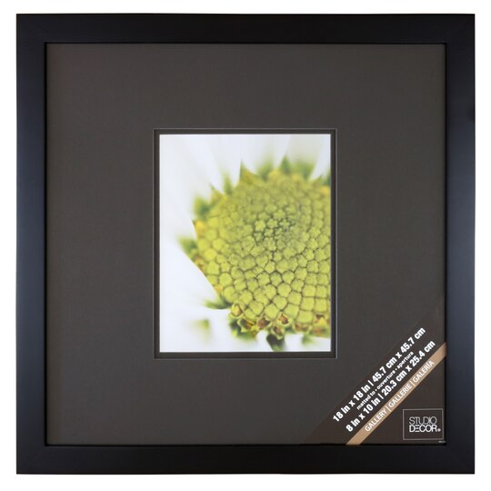 Black Square Gallery Wall Frame with Black Double Mat by Studio Décor®