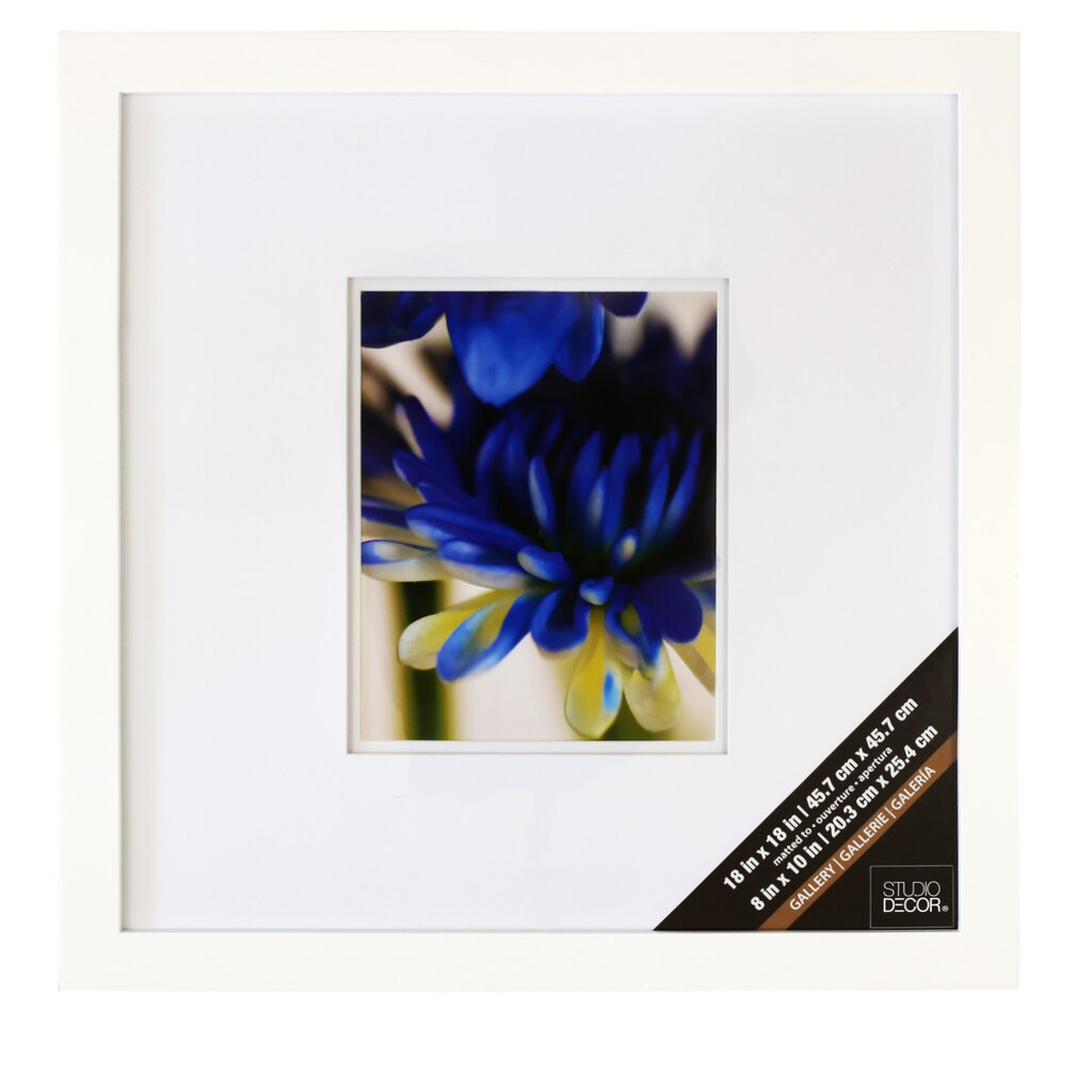 white square gallery wall frame with double mat by studio