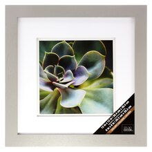 "Gray Gallery Frame With Double Mat by Studio Decor®, 8"" x 8"""
