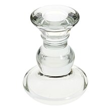 Glass Taper Candle Holder by Ashland, 4.5""