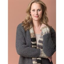 Lion's Pride® Woolspun® Knit Cardigan (Level 2 – Easy), medium
