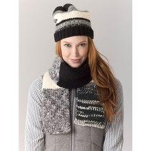 Lion's Pride® Woolspun® Knit Scarf & Hat Metropolis (Level 2 – Easy), medium