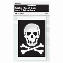 Skull and Crossbones Treat Bags, 50ct