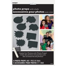 Chalkboard Photo Booth Props, 8pc, medium
