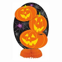 "Mini 8"" Honeycomb Jack-o-Lantern Halloween Decoration"