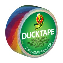 Ducklings Mini Duck Tape Brand Duct Tape, Rainbow