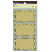 Rectangular Kraft Paper Labels by Recollections