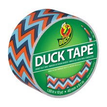Printed Duck Tape Brand Duct Tape, Blue Chevron