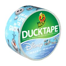 "Disney-Licensed Duck Tape Brand Duct Tape, ""Frozen"" featuring Olaf"