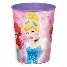 16oz Sparkle Disney Princess Plastic Cup
