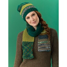Lion's Pride® Woolspun® Knit Scarf & Hat Forest (Level 2 – Easy), medium