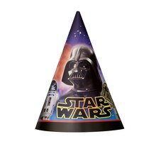 Classic Star Wars Party Hats, 8ct, medium