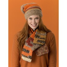 Lion's Pride® Woolspun® Crochet Scarf & Hat Mesa (Level 2 – Easy), medium