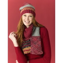 Lion's Pride® Woolspun® Knit Scarf & Hat Campfire (Level 2 – Easy), medium