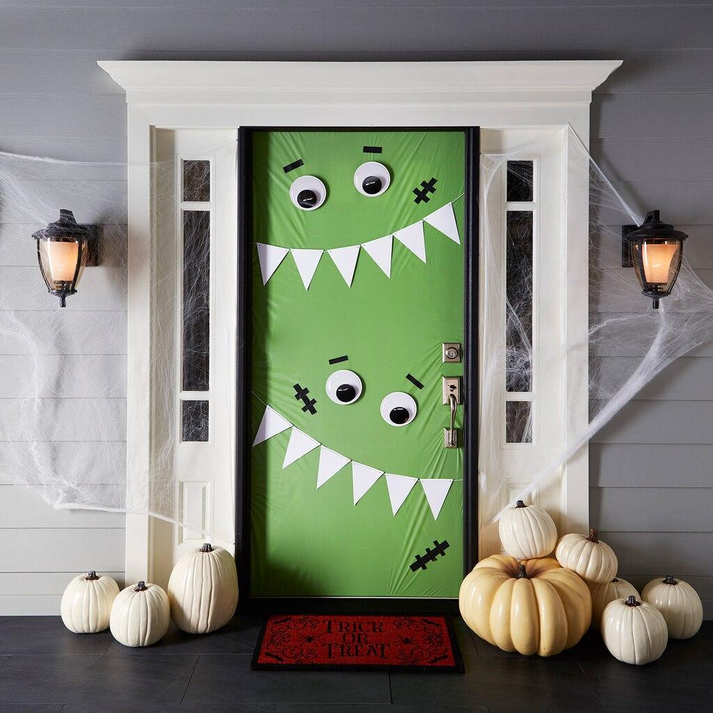 Halloween door decorations - Monster Door Decor Michaels