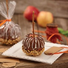 Dazzling Drizzled Caramel Apples with Nuts, medium