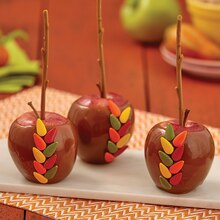 Autumn Leaves Caramel Dipped Apples, medium