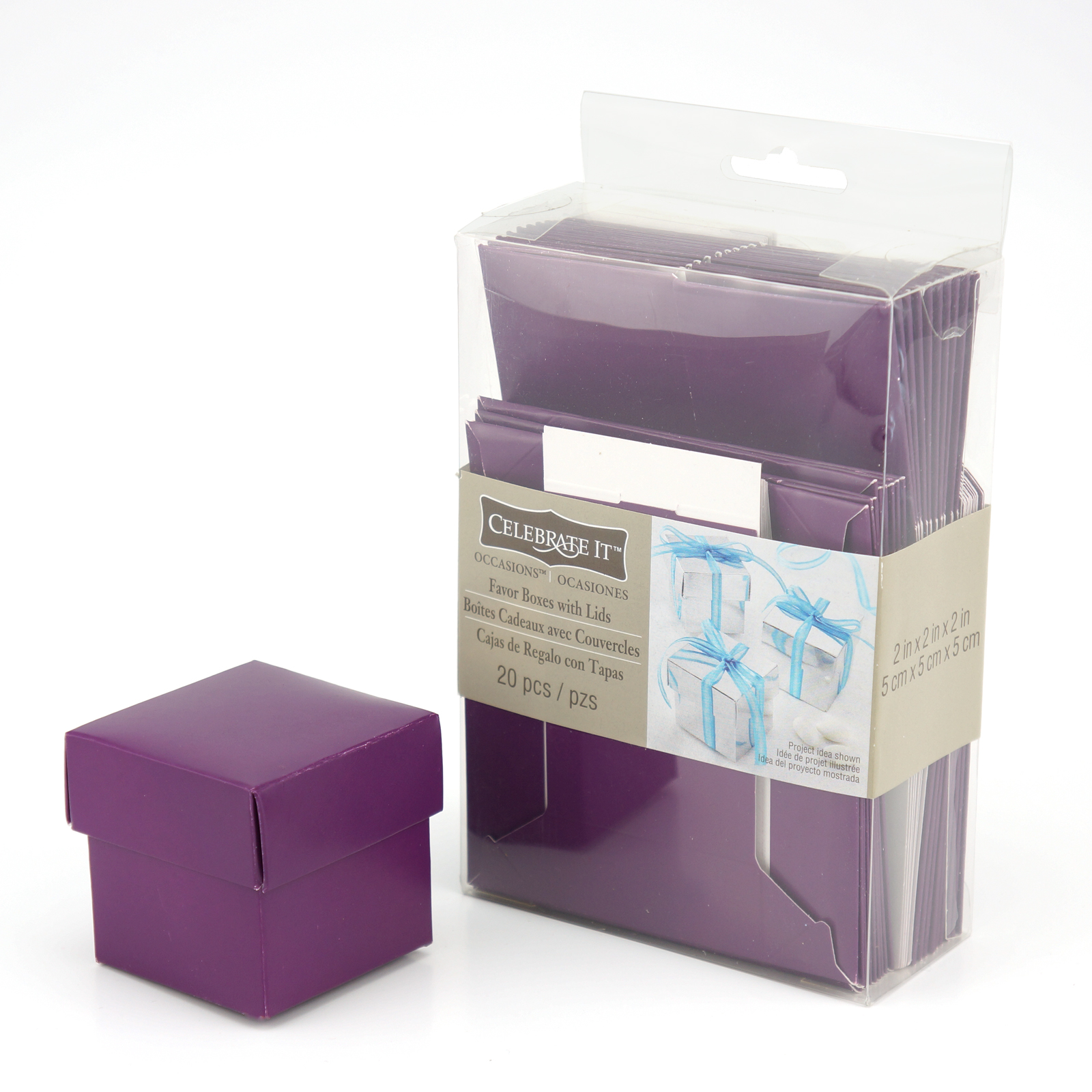 Michaels Brown Favor Boxes : Purple favor boxes with lids by celebrate it