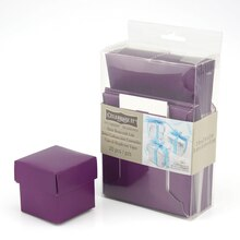 Purple Favor Boxes with Lids by Celebrate It
