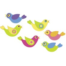Folk Bird Felt Stickers by Creatology