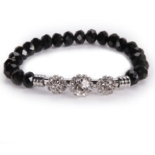 Darice Crystal Bracelet, Black Clear