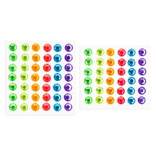 Darice Sticky Back Rhinestones, Neon 7mm