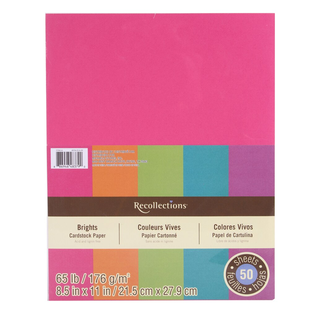 Cream colored cardstock paper studio - Brights Cardstock Paper 8 5
