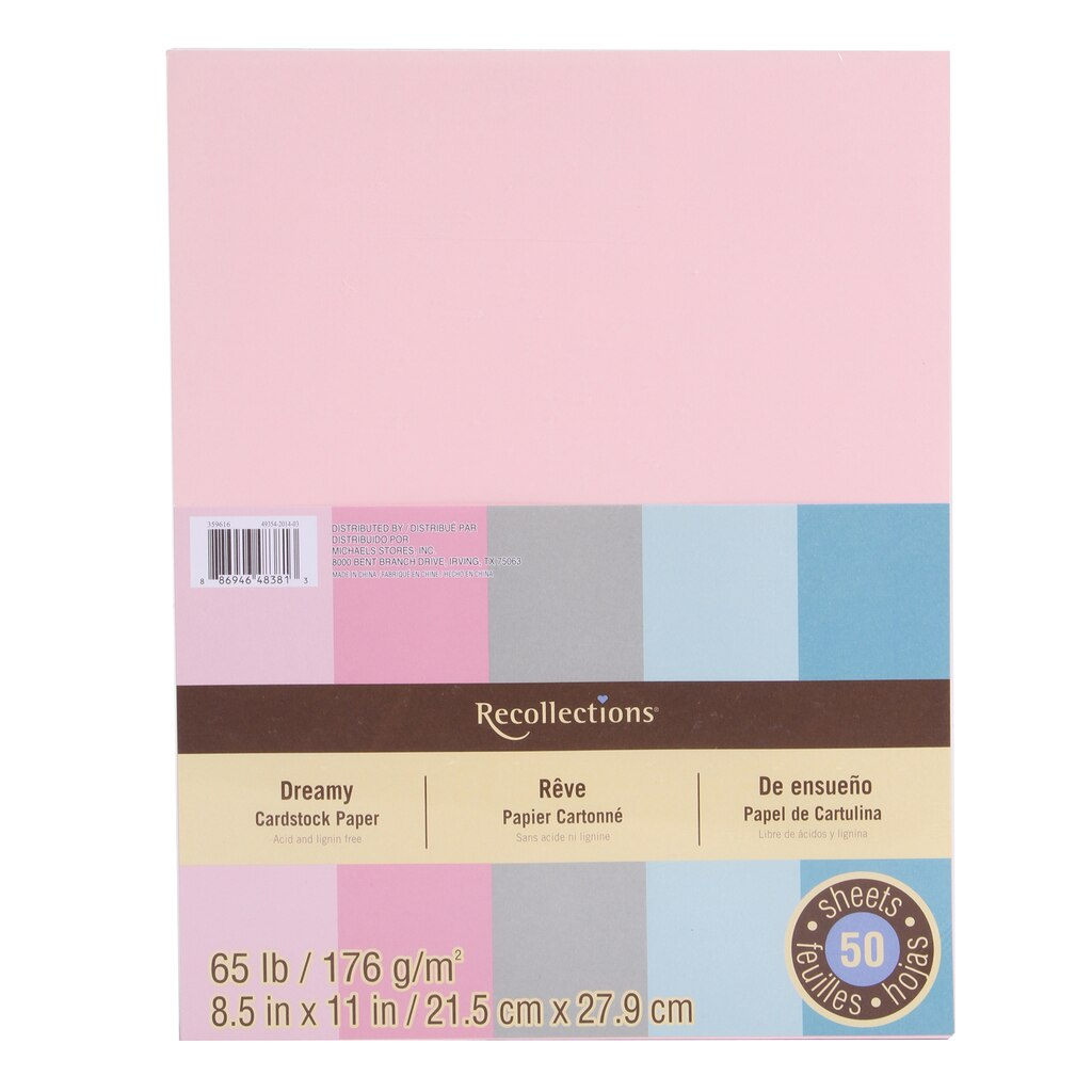 Shop for the dreamy cardstock paper by recollections at for Weekly ad for michaels craft store