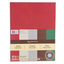 "Holiday Cardstock Paper, 8.5"" x 11"" by Recollections"