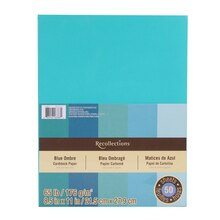 "Blue Ombre Cardstock Paper, 8.5"" x 11"" by Recollections"