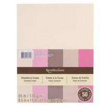 "Strawberry Cream Cardstock Paper, 8.5"" x 11"" by Recollections"