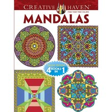 Creative Haven Mandalas Coloring Book: Deluxe Editions 4 Books In 1