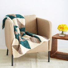 Loops & Threads® Country Loom™ Shadow Squares Knit Blanket, medium